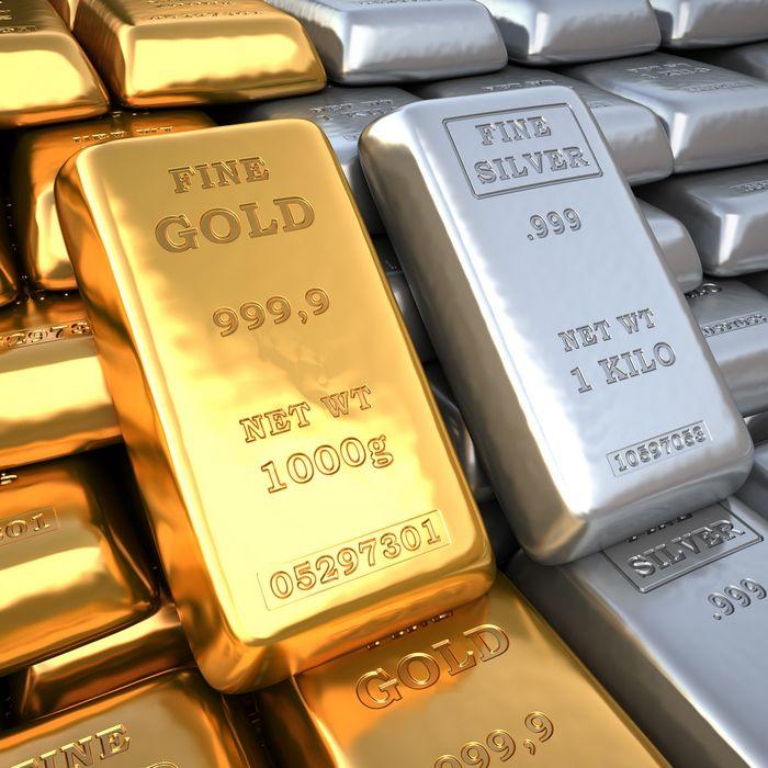 Цена на золото растёт на фоне снижения доллара