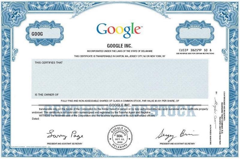 Как купить акции google в украине